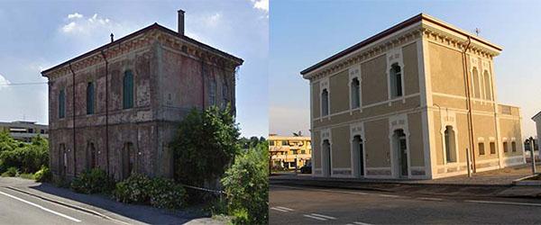 Restauro facciate storiche prima e dopo for Foto di case antiche