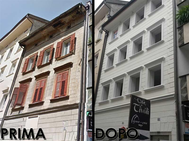 cornici per finestre e decorazioni facciata