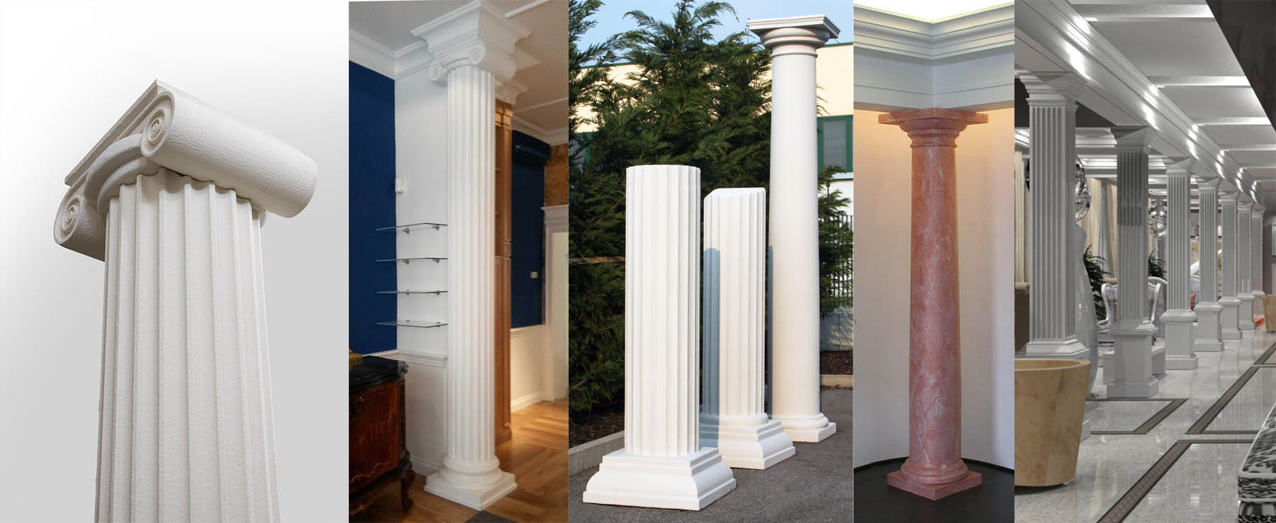 Colonne in polistirolo e lesene decorative eleni decor for Placche decorative per interni
