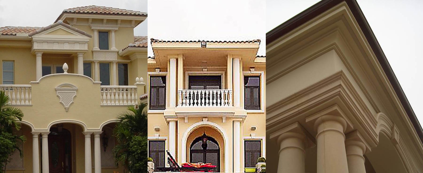 colonne in polistirolo per facciata esterna
