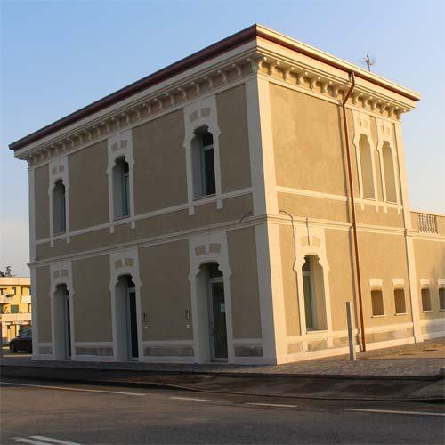 Ex stazione ferroviaria Limena Padova, dopo il restauro