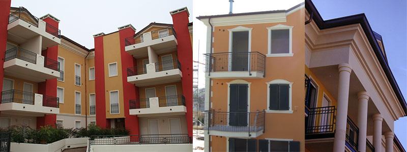 case con cornici per gronda in polistirolo cornicioni sottogronda