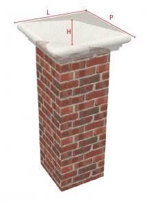 Schema copri pilastro for Coprimuro prezzi