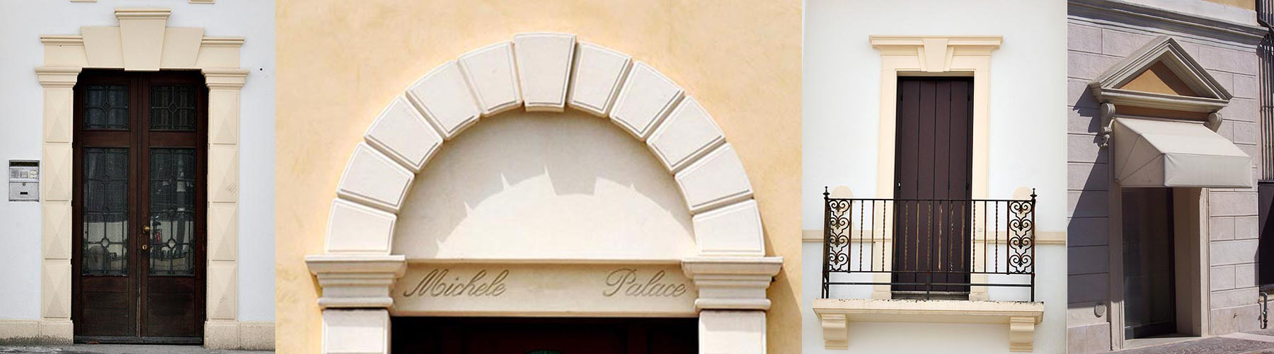 Cornici per porte esterne, portoni ingresso e archi per portali