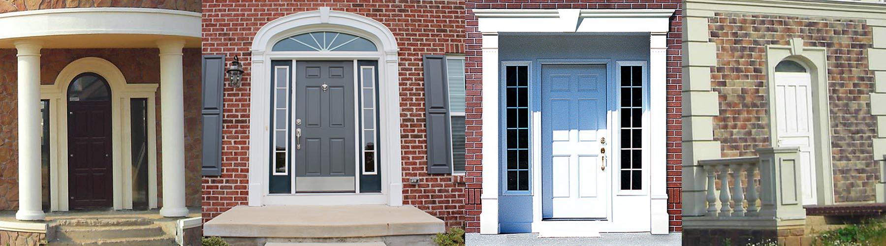 Ingresso Casa Esterno In Pietra eleni decor | cornici per porte e portali