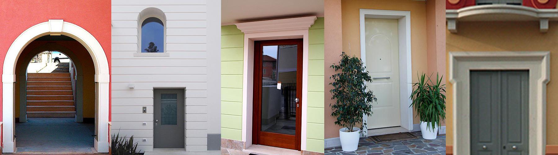 Cornici per porte esterne e portoni ingresso in for Decorazione entrata casa