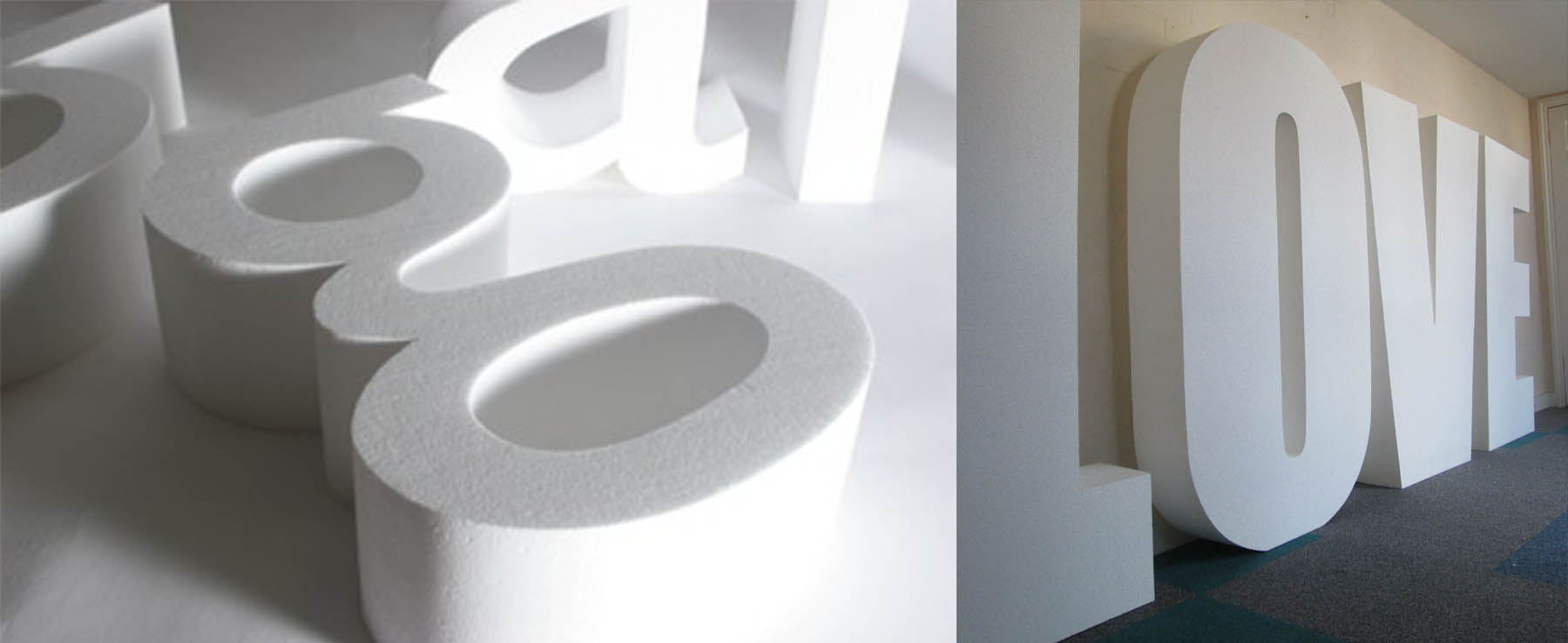 lettere in polistirolo bianche 1