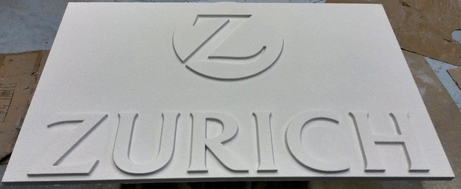scritta 3d e logo in polistirolo