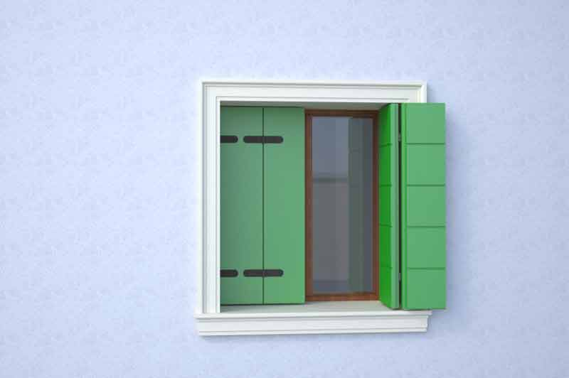 Window surrounds with window sills
