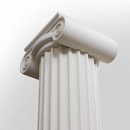 polystyrene coated with external plaster