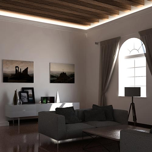 Eleni lighting profili illuminazione indiretta led per for Led per interni
