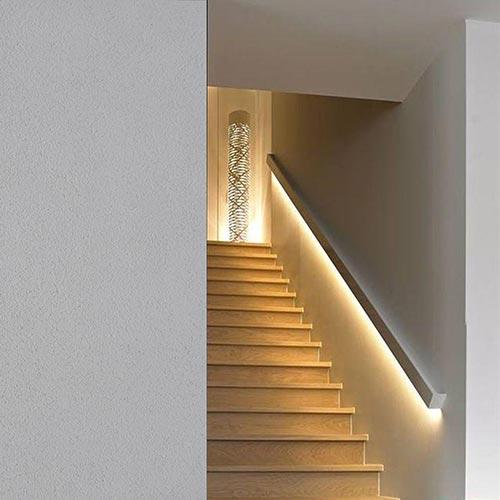 cornici led per interni corrimano segnapasso scale