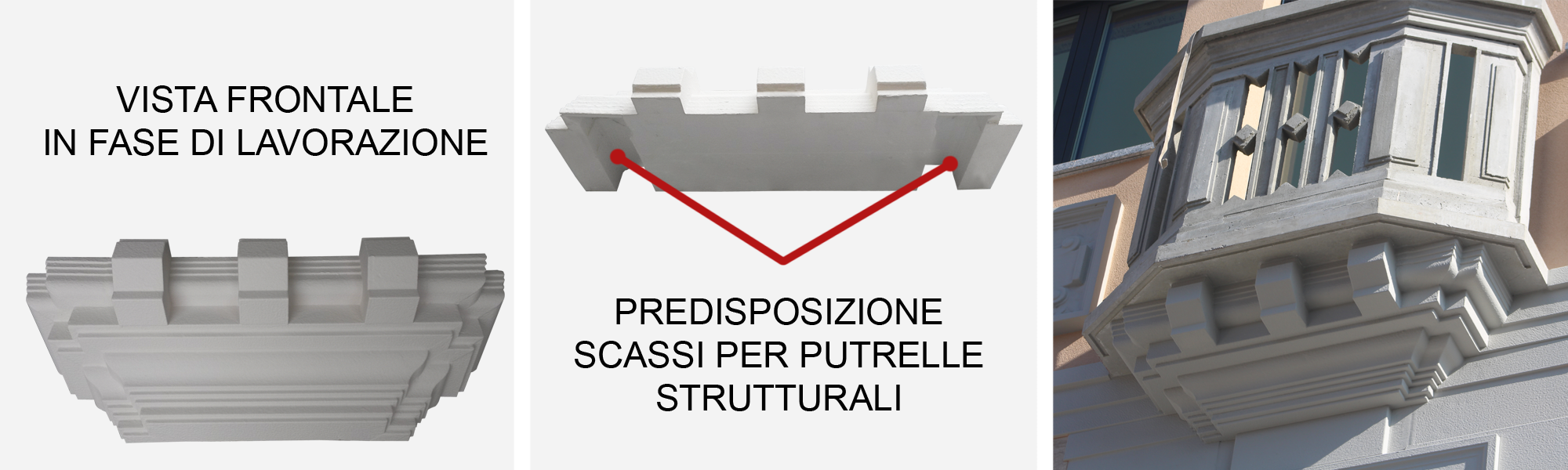 Esempio sotto terrazzo per incapsulamento telaio metallico strutturale