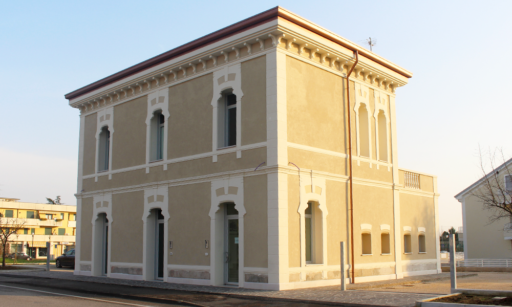 Ex stazione Limena (PD) dopo la ristrutturazione