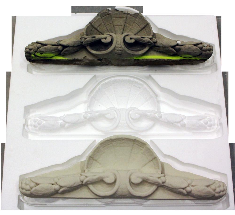 Repliche per il restauro - Esempio fase di lavorazione fresatura