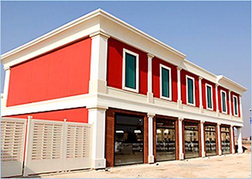 outlet facade decoration